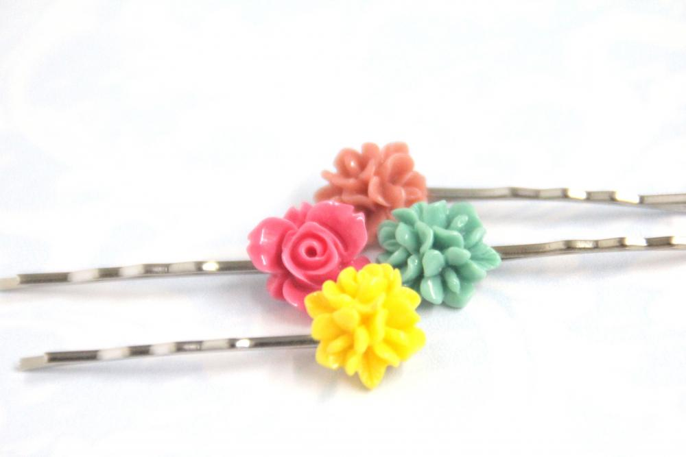 Flower Bobby Pins: Fruit Rush